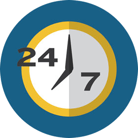 IT Services in Chicago Around the Clock Icon