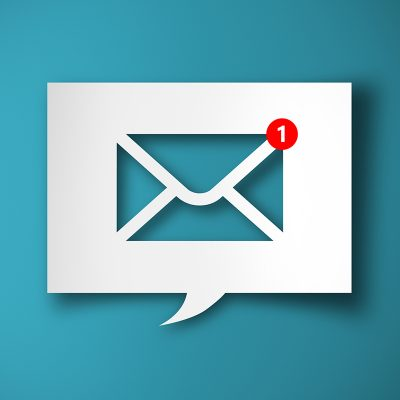 email icon in a quote box