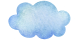 a blue cloud representing cloud services
