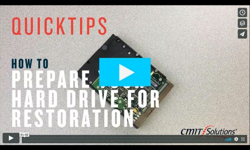 VIDEO QUICKTIP: How to Prepare Your Hard Drive for Restoration