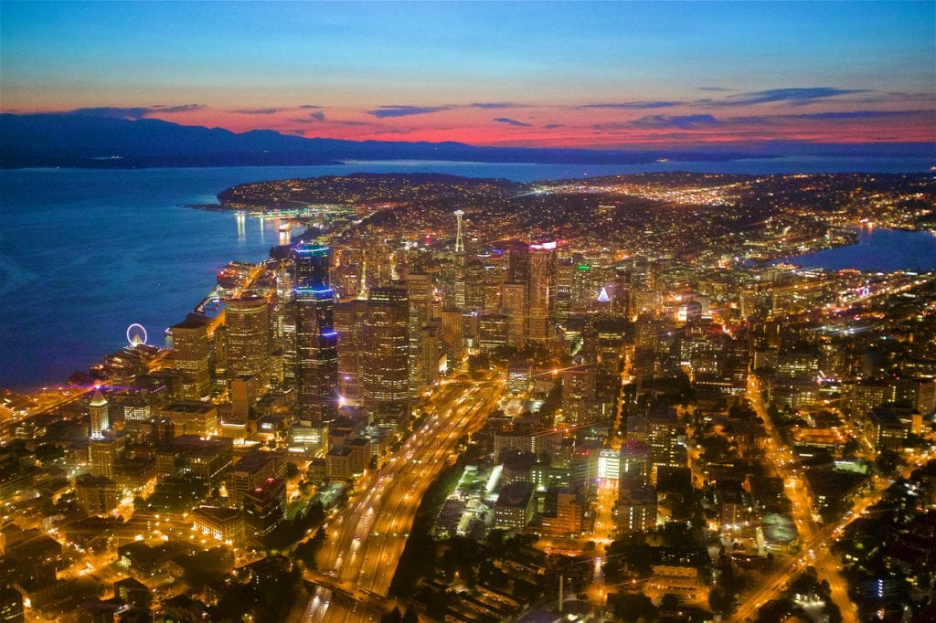 View of Seattle from above