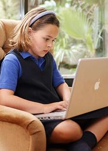child with PC